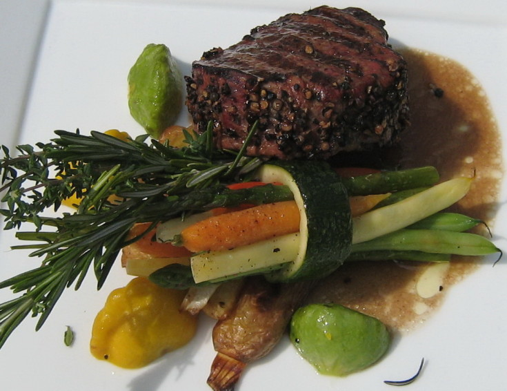 Beef tenderloin from our catering menus
