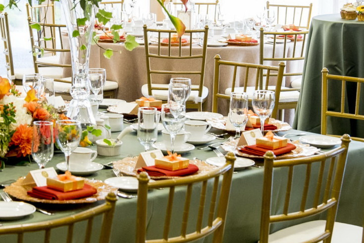 Tables and chairs to complement our catering menus