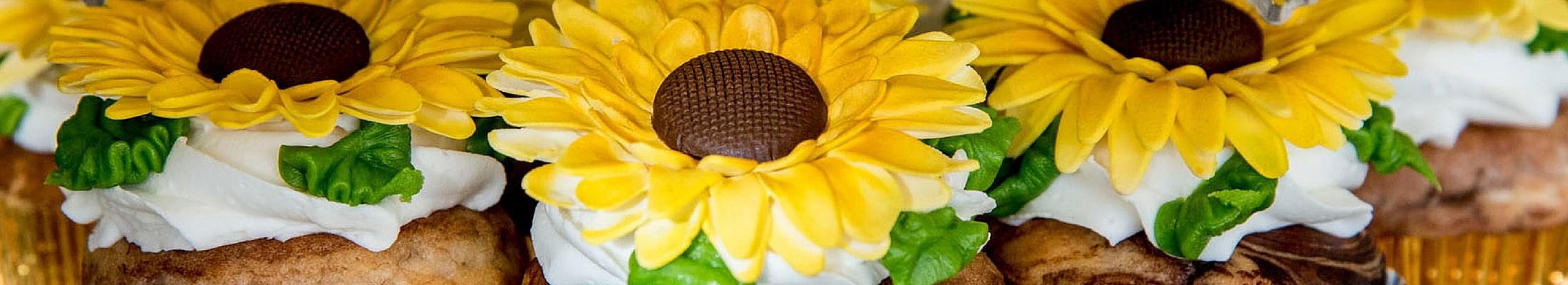 Sunflower Caledon Wedding Cupcakes
