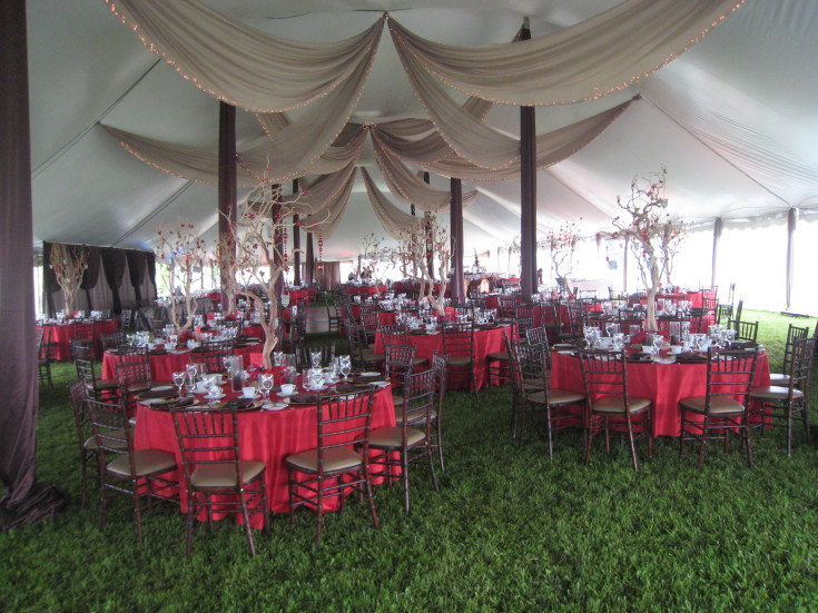 Tent for your catering menu