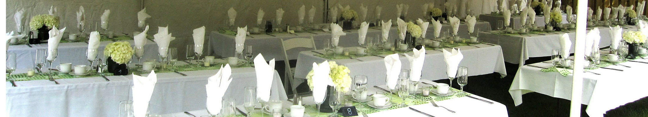 Caledon wedding catering small outdoor tented reception